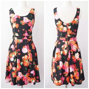 Robert Rodriguez Dori Fit and Flare Floral Dress